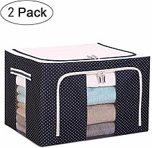 NLIAN- Stackable Large Storage Bag Polka Dots