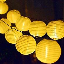 NLRHH 20Led Ball Christmas Lights Lantern Solar