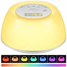 NLRHH Alarm Clock Wake With Up Light -
