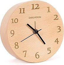NMDD Silent alarm clock Solid wood alarm clock ▏