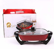 NNDQ Electric Skillet Electric Wok with Lid, Easy