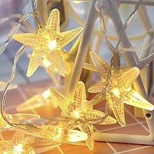 NNUF 2-piece Led Starfish Fairy Light String,