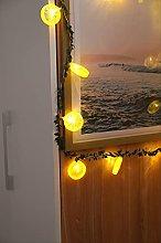 NNUF 2-piece Set Of Led Lemon Rattan Lights,