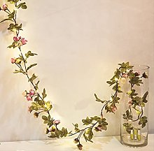 NNUF Artificial Rose Green Vine String Lights, Led