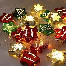 NNUF Led Five-pointed Star Warm Color Lights,
