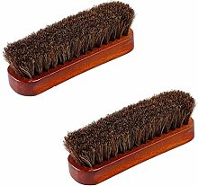 NNYCC 2pcs Horsehair Shoe Brush Shine Brush