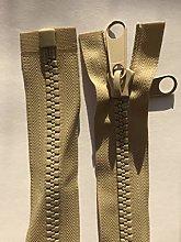 NO.10 Double Pull Plastic Zipper Open End Heavy