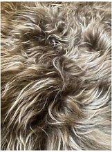 No. 3 - Icelandic Sheepskin Rug Throw - Dusky pink