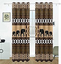 no brand Bedroom 3D Blackout Curtains