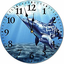 No Branded 10 inch Fashion PVC Wall Clock Dolphin
