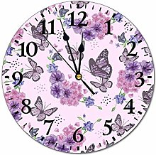 No Branded 10 inch Fashion PVC Wall Clock Lovely