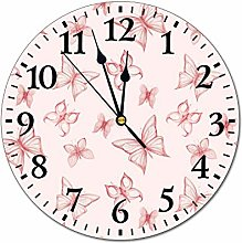 No Branded 10 inch Fashion PVC Wall Clock Pink