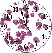 No Branded 10 inch Fashion PVC Wall Clock Purple