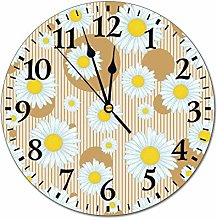 No Branded 10 inch Fashion PVC Wall Clock Yellow