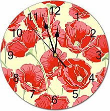 No Branded 10 inch Simplicity Wall Clock PVC Corn