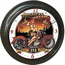 No Branded BIKER CHIC CLOCKS! Custom Hand Made
