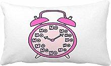 no branded Cute Girly Pink Clock Pattern Print