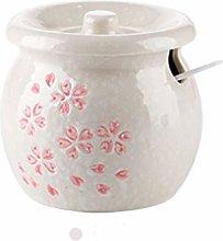 No-branded Sakura Pattern Ceramic Seasoning