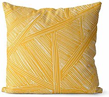 No branded yellow pillow covers 18x18 inch,modern