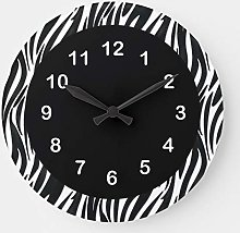 No Brands Classic Wood Clock Round for Bedroom,