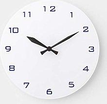 No Brands Practical Wood Clock Round for Bedroom,