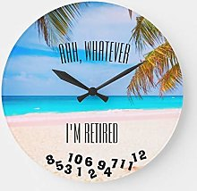 No Brands Silent Non Ticking Wood Clock Round For