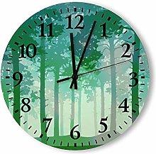 no brands Wooden Decorative Round Wall Clock