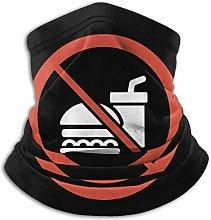 No Food Or Drink Neck Gaiter Warmer Windproof Neck