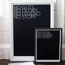 No Guts No Glory Print By We Are Amused