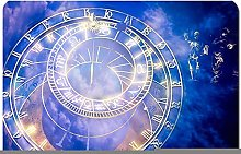 No-slip Bath Rugs Mats prague astronomical clock