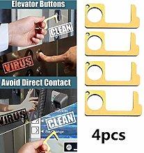 No-Touch Door Opener, 4 Pcs, Liushi Pump Wedge