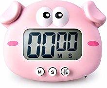 Nobenx Kitchen timer Cartoon Piggy And Chicken