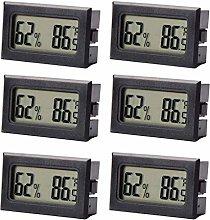 Noblik 6-Pack Hygrometer Thermometer LCD Display