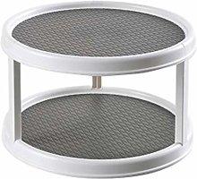 Noblik Gray Rotatable Desktop Kitchen Storage Tray