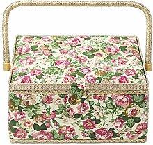 Noblik Sewing Basket With Rose Floral Print