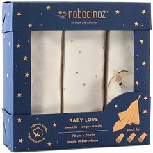 Nobodinoz - Pack of 3 Baby Love Bird and Ecru