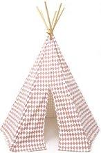 Nobodinoz - Pink Cotton Diamonds Arizona Tipi Tent