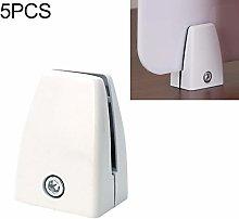 NOBRAND 5 PCS Flat Shape Aluminum Alloy Handrail