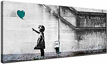 NOBRAND Canvas Art Print Teal Canvas Wall Art of