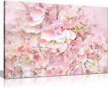 NOBRAND Canvas Painting Pastel Pink Flowers Floral