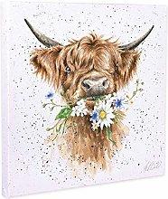 NOBRAND Canvas Print Wall Art Painting Daisy Cow