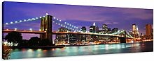 NOBRAND Pictures on canvas Brooklyn Bridge Canvas