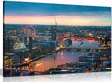 NOBRAND Print On Canvas Art London Sunset