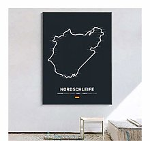 NOBRAND Print On Canvas Formula 1 Race Poster