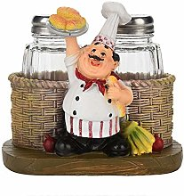 NOBRAND Unibell Cute Chef Statue Salt & Pepper