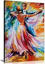 NOBRAND Wall Art Canvas Painting Dance Waltz