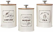 Nobranded 3-pack Retro Tea Coffee Sugar Canister