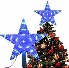 Nobranded Christmas Star Tree Topper Lights 6 inch