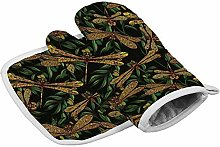 Nobranded Oven Mitt and Potholder,Dragonfly Green