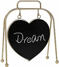 Nobrannd Blackboard Simple Iron Love Double-sided